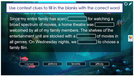 SMART has added a number of new interactive templates to the Lesson Activity Builder with Notebook 15.1.  The Fill in the Blanks template, pictured here. is one of the additions. It allows students to input content into a paragraph of information and check their work.  Teachers can also use additions like a spinner or timer to keep students engaged.