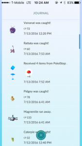 PokemonGo Journal