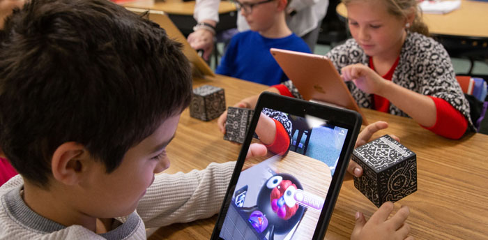 Merge Cube AR and VR in the classroom