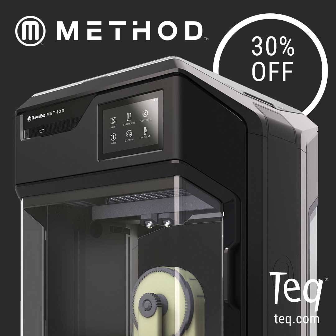 Makerbot Exclusive Offer: 30% Discount on Method 3D printers
