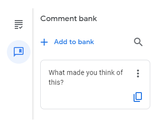 adding a comment in Google Classroom