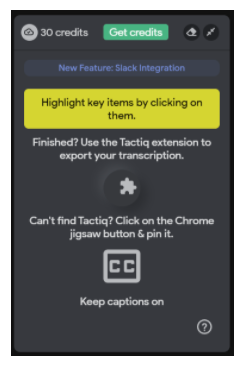 Create Transcripts of Your Google Meets with Tactiq