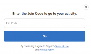 Flipgrid Join Code space for activity